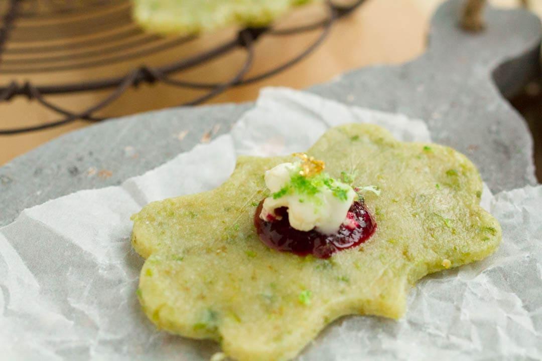 Pistazien-Limetten-Cookie