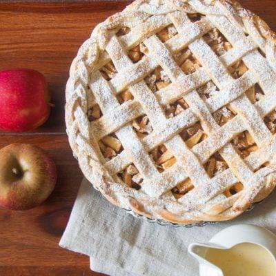 Küchen-Miezen · Back- & Foodblog · Rezept · Apfel-Tarte mit Vanillesoße