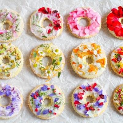Küchen-Miezen · Back- & Foodblog · Rezept · Shortbread-Kekse mit Wildblumen