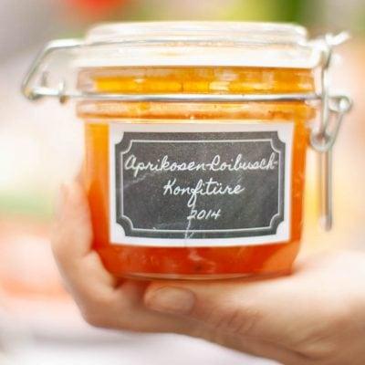 Küchen-Miezen · Back- & Foodblog · Rezept · Aprikosen-Roibusch-Konfitüre