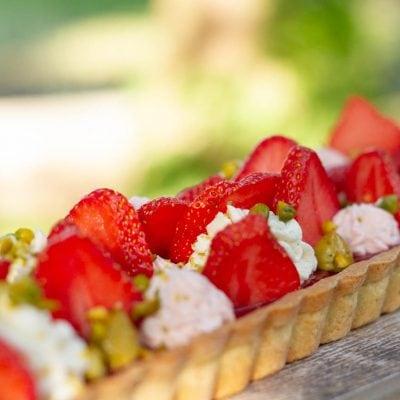 Küchen-Miezen · Back- & Foodblog · Rezept · Erdbeer-Tarte mit Pistazien