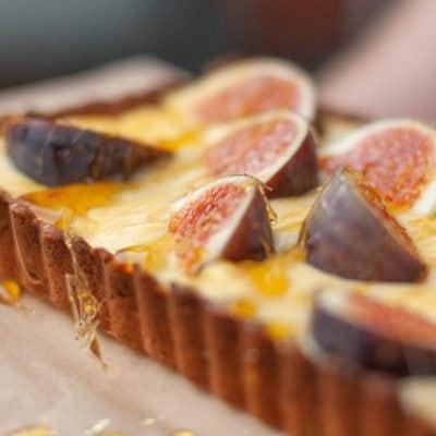 Küchen-Miezen · Back- & Foodblog · Rezept · Orangen-Walnuss-Tarte mit Feigen