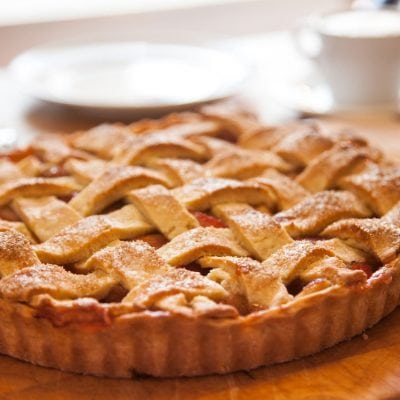 Küchen-Miezen · Back- & Foodblog · Rezept · Birnen-Rhabarber-Tarte mit Zimt