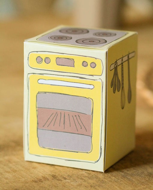 Diy Verpackung Cupcake Ofen Zum Ausdrucken Sonnengelb 4 90