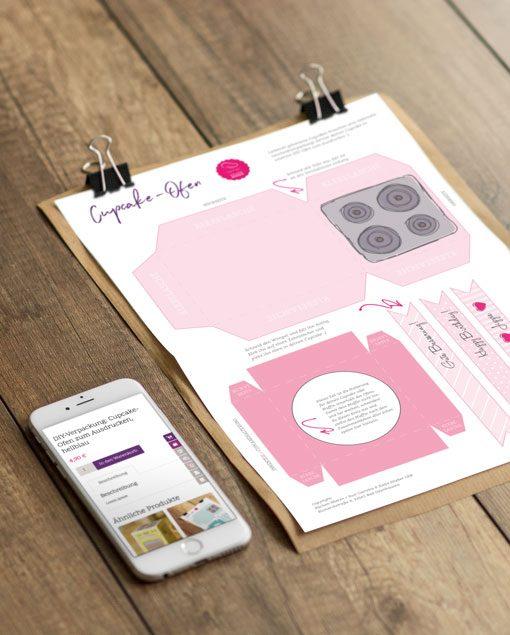 Küchen-Miezen · Back- & Foodblog · Bastelvorlage Cupcake-Ofen rosa