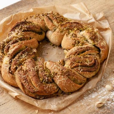 Küchen-Miezen · Back- & Foodblog · Rezept · Pesto-Brotkranz mit Parmesan