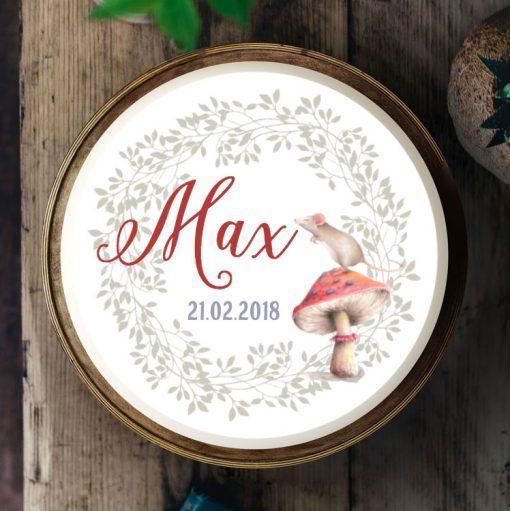Küchen-Miezen · Tortenbild & Tortenaufleger selbst gestalten · 01 · Design Maus miez Pilz
