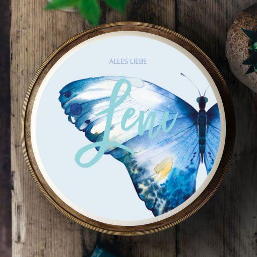 Küchen-Miezen · Essbares Tortenbild & Tortenaufleger selbst gestalten · Konfigurator · 022 Schmetterling