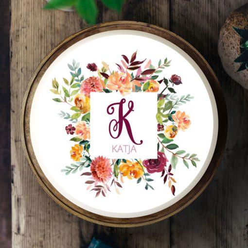 027 Blumenfreude Boho · Küchen-Miezen · Essbares Tortenbild & Tortenaufleger selbst gestalten · Konfigurator