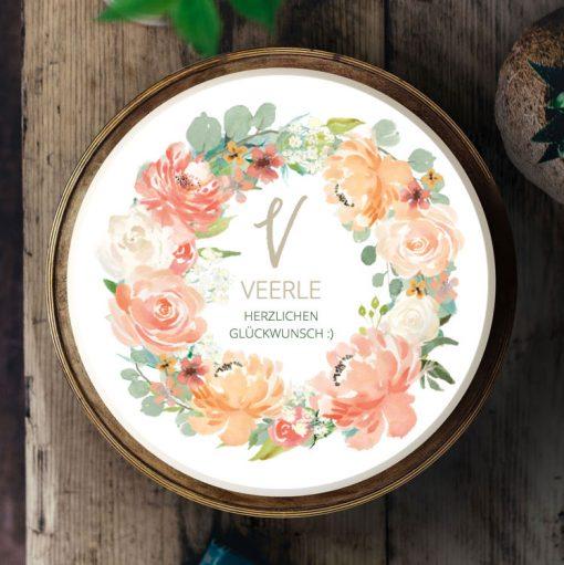 033 Blumenkranz · Küchen-Miezen · Essbares Tortenbild & Tortenaufleger selbst gestalten · Konfigurator
