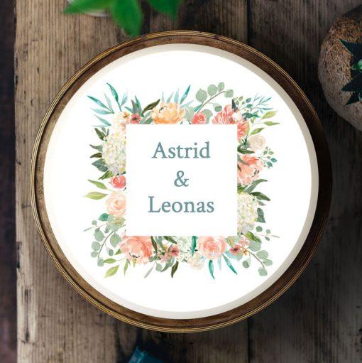 035 Boho Blumenkarte · Küchen-Miezen · Essbares Tortenbild & Tortenaufleger selbst gestalten · Konfigurator