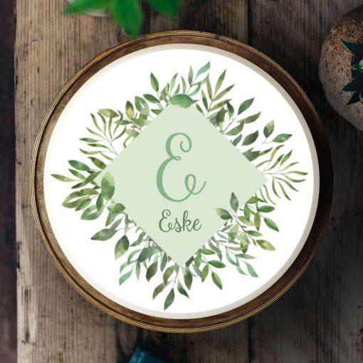 036 Boho Eukalyptus · Küchen-Miezen · Essbares Tortenbild & Tortenaufleger selbst gestalten · Konfigurator