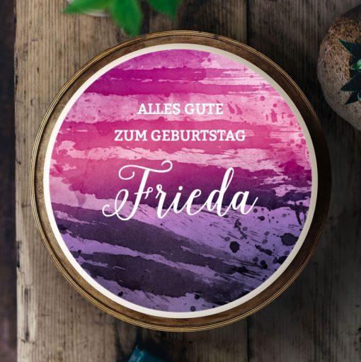 045 Aquarell pink & lila · Küchen-Miezen · Essbares Tortenbild & Tortenaufleger selbst gestalten · Konfigurator