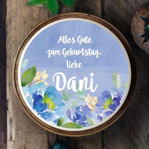 049 Aquarell & Blumen · Küchen-Miezen · Essbares Tortenbild & Tortenaufleger selbst gestalten · Konfigurator
