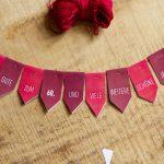 Tutorial: Wimpel- & Fähnchenkette für Torten