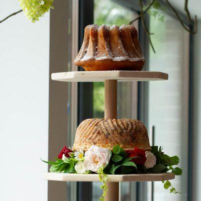 Küchen-Miezen · Back- & Foodblog · Tutorial: Gugelhupf-Etagere aus Holz selber bauen · DIY · Anleitung