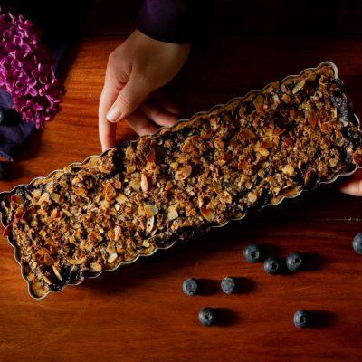 Küchen-Miezen · Back- & Foodblog · Rezept: Blaubeer-Mandel-Tarte (Unterschied Blaubeeren vs. Heidelbeeren erklärt)